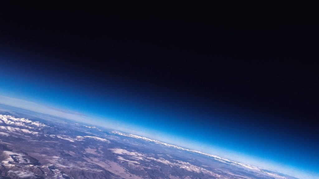 view of the earth's atmosphere from space